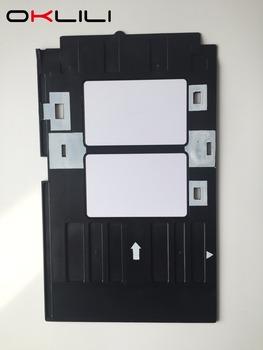 Identyfikator z pvc taca plastikowa karta drukowanie taca do projektora Epson R260 R265 R270 R280 R290 R380 R390 RX680 T50 T60 A50 P50 L800 L801 R330 tanie i dobre opinie OKLILI TX650 L805 R270 R290 R380 R390 RX680 T50 T60 A50 P50 L800 L801 R330 220 v 110 v Inkjet PVC ID Card Tray Plastic card Tray PVC Card Printing Tray
