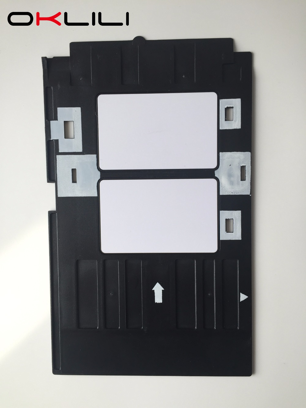 พีวีซี ID บัตรถาดพลาสติกพิมพ์บัตรถาดสำหรับ Epson R260 R265 R270 R280 R290 R380 R390 RX680 T50 T60 A50 P50 L800 L801 R330