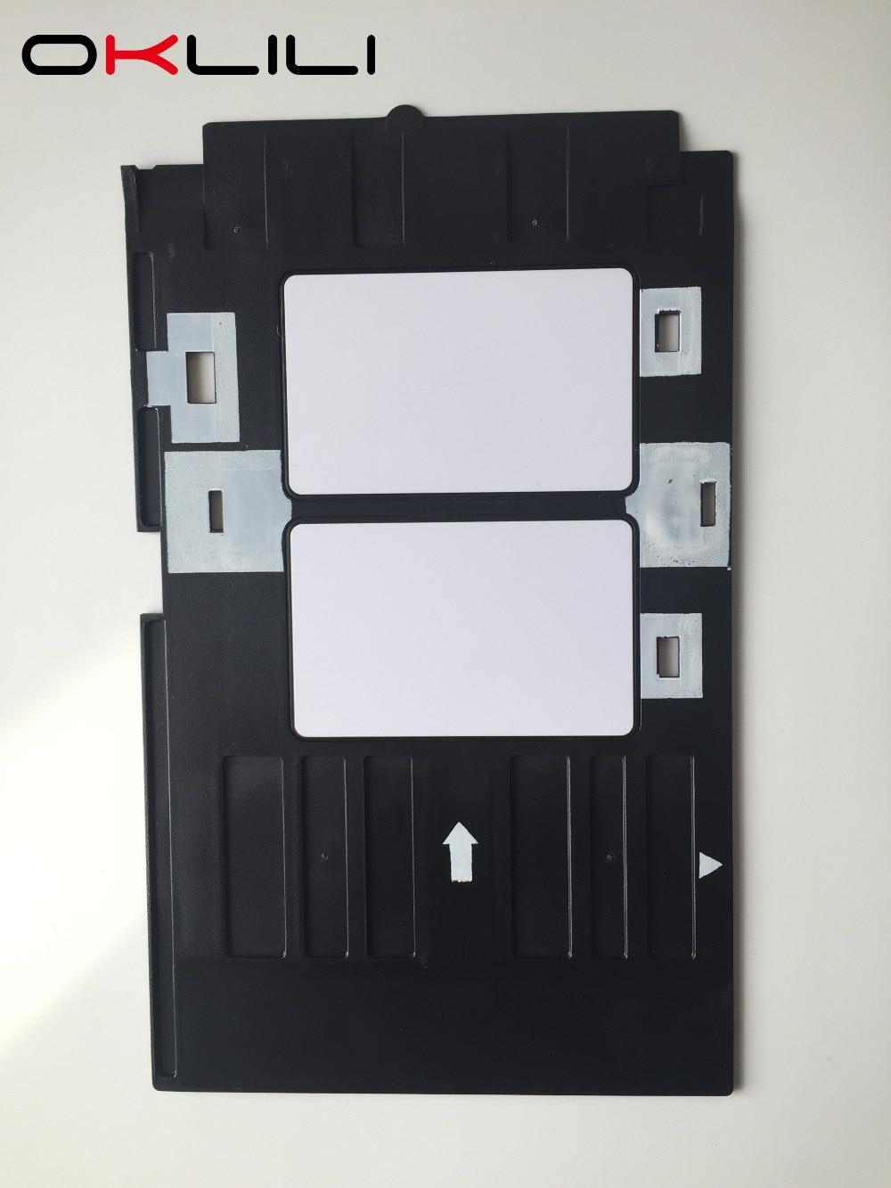 PVC ID kartes paplātes plastmasas karte Drukas tekne Epson R260 R265 R270 R280 R290 R380 R390 RX680 T50 T60 A50 P50 L800 L801 R330