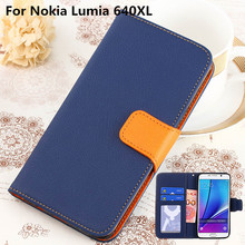 K'try  For Microsoft Lumia 640XL Case Wallet PU Leather Flip Cover For Nokia Lumia 640 XL with Stand and Card Holder Phone Bag