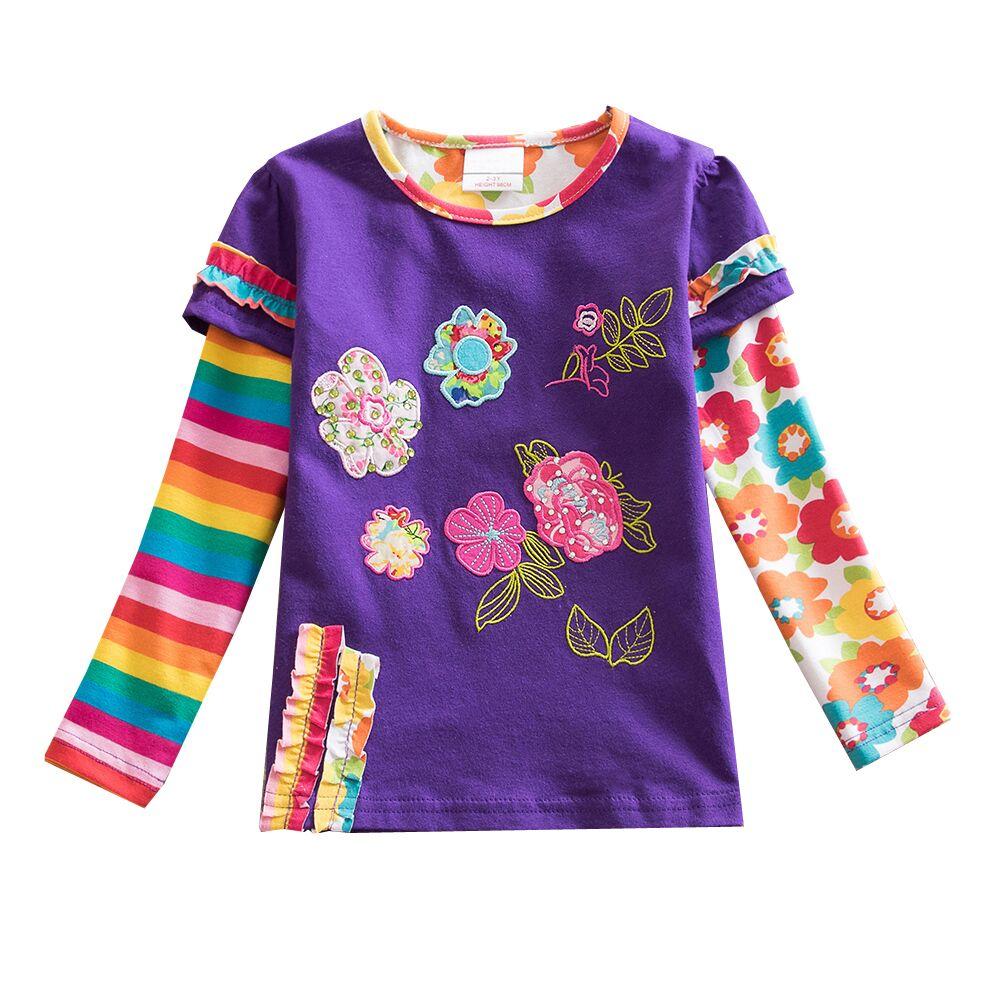 VIKITA T-krekli meitenēm Garām piedurknēm Roupa Infantil Princess - Bērnu apģērbi - Foto 3