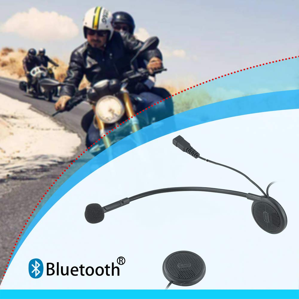 Aileap Motorcycle Helmet Bluetooth Headset Wireless Headphones With Microphone, Crystal Clear Sound System For Riding