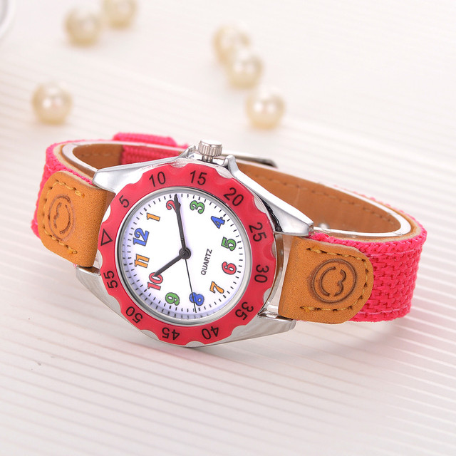 Kids Girls' Fashion Colorful Strap Ladies WristWatches Arabic Number Sport Quart