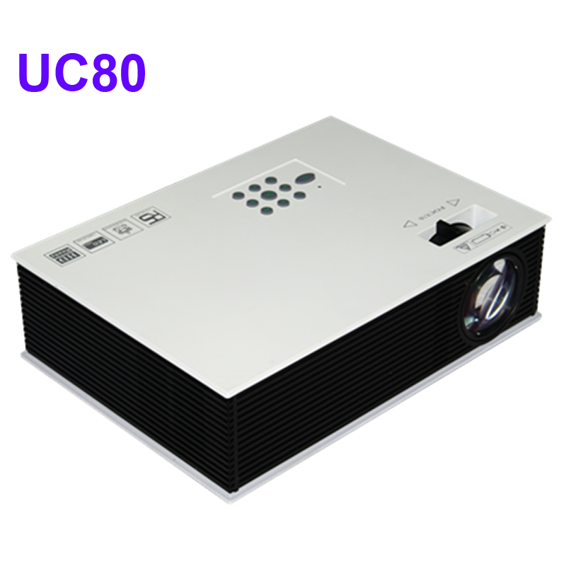 Cheaper price 2400lumens uc80 multimeda hd led home for Top rated pocket projectors
