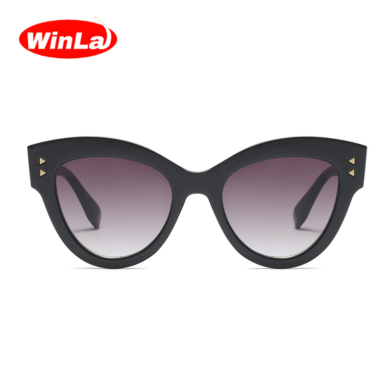 3c66765f9bb WINLA BRAND DESIGN Classic Latest Women Cat Eyes Sunglasses Luxury Fashion  Sun Glasses Retro Glasses UV400 Lens Goggles WL1227-in Sunglasses from  Apparel ...