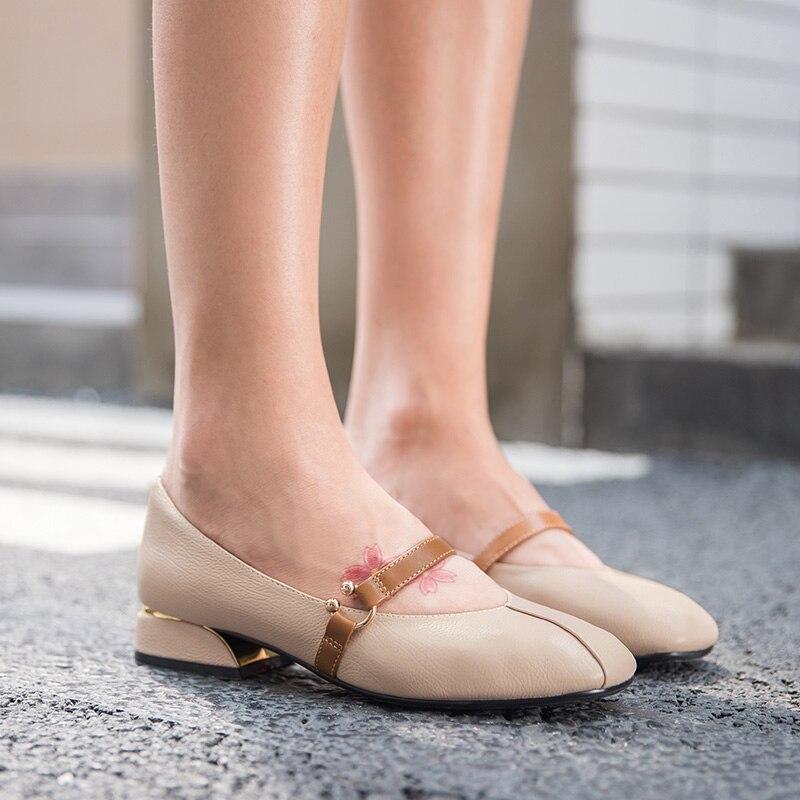 Carré À Bout Chaussures Beige Beautoday Janes Lady Véritable Vache Main En Cuir Printemps black Glissement La Sur Automne Marier Femmes 30062 Mocassins qYpZxY0a