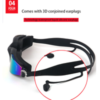 Professional Swimming Goggles Man Silicone Anti-fog UV Adjustable Multicolor Swimming Glasses With Earplug Men Women Eyewear