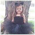 De los Bebés Encantadores Gatos de Halloween Negro de Tul Vestido de Princesa Tutu Dress Niños ropa de Baile Latino Vestido de La Muchacha Vestidos de Fiesta de Cumpleaños