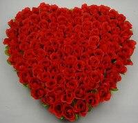 40X37 cm Ipek Gül Düğün Araba Dekorasyon Yapay Çiçek Kapı Çelenk Mariage Voiture Dekor Kırmızı Pembe Için Guirlandas Para Porta