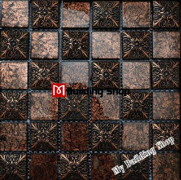 glass mosaic 3d tile backsplash resin mosaic tiles rnmt021