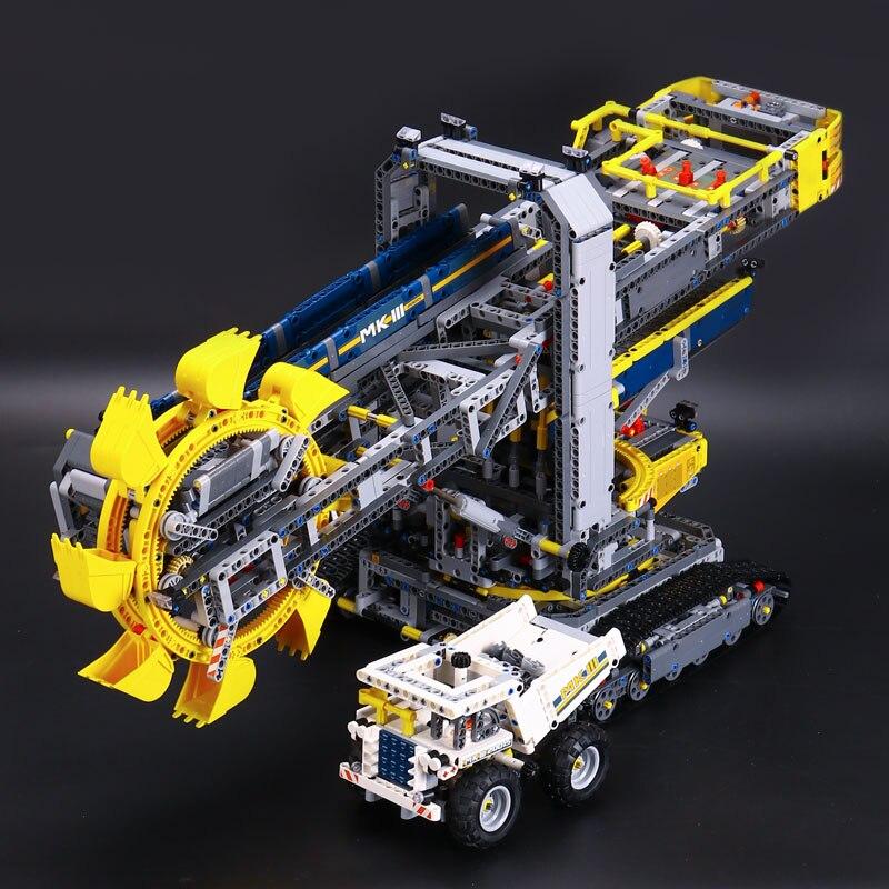 New  Technic Series Bucket Wheel Excavator Model Assembling Building Blocks Brick Toy Educational Gifts with  LEPINE Figures new lp2k series contactor lp2k06015 lp2k06015md lp2 k06015md 220v dc