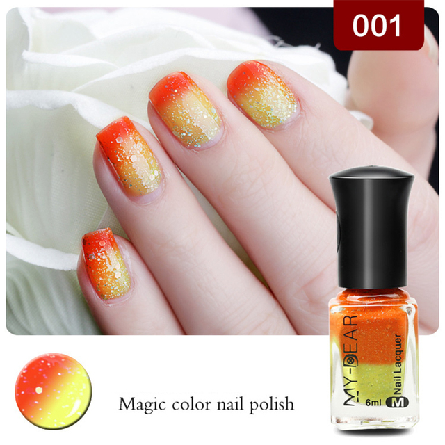 New Product Nail Polish Temperature Change Color Water Can L Tear Avirulent Insipidity 12