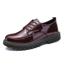 Patent Leather Mens Ankle Martin Shoes Autumn Winter Fashion Men Sneakers Low top High Quality Male Oxfords
