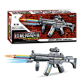 free shipping Camouflage toys guns telescopic shock gun with lights and music Child electric gun rifle pistol sniper rifle