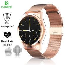 FLOVEME K7 Smartwatch Bluetooth Pulsera Para IOS Android Teléfonos son Compatibles Con Múltiples Idiomas de Ritmo Cardíaco IP67 A Prueba de agua Reloj Inteligente