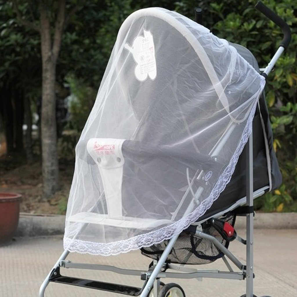 Newborn Toddler Infant Baby Stroller Crip Netting Pushchair Mosquito Insect Net Safe Mesh Buggy Cover White Accessories 19Mar20