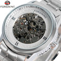 Luxury Brand Forsining Golden/Silver Mechanical Wrist Watch Relogio masculinos Mens Watches   W18010