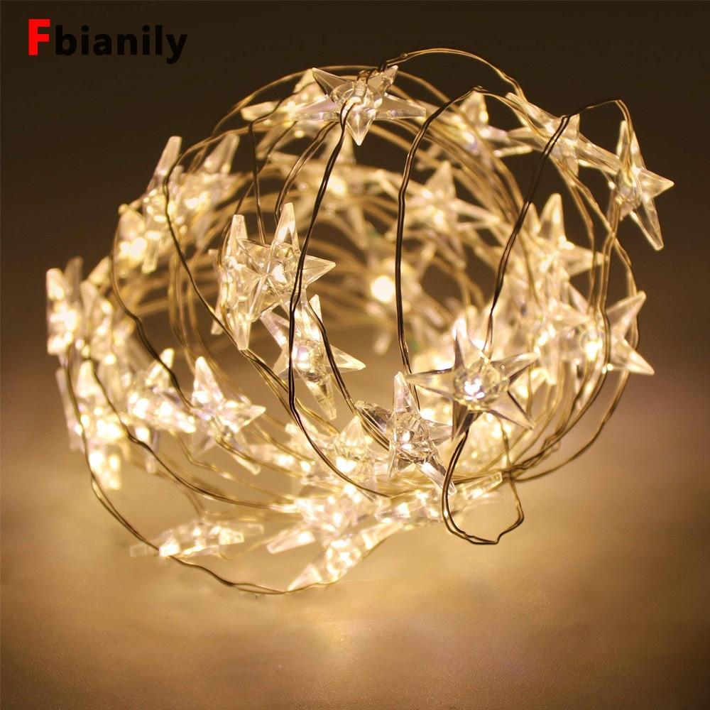 LED Star String Lights LED Fairy Lights Christmas Wedding Decoration Lights Battery Operate Twinkle Lights
