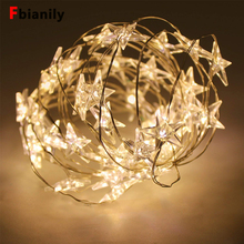 LED Star String Lights Fairy Christmas Wedding decoration Battery Operate twinkle lights
