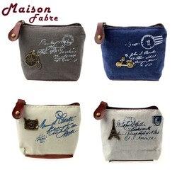 Hot Retro Girl Coin Case Bag Cartão Bolsa Carteira Bolsa Presente Torre Eiffel transporte da gota 0807