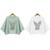 Nuevo 2017 Moda mujer Loose T Shirt O-cuello Sólido Blanco/Verde Camisetas Tops de Señora Cotton Plus Tamaño Diaria Casual