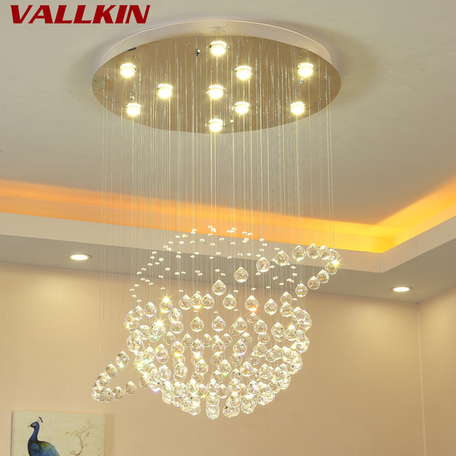 New Style Crystal Chandeliers Lighting Fixture Crystal Chandelier Lamps Light Lustres de Cristal for Living Room Ceiling Lamp