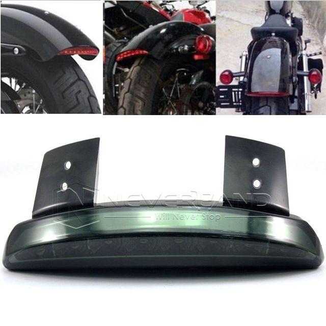 Para Harley Sportster Ferro XL 883 1200 2008-2014 Fumaça Picado Fender Borda Cauda LED Brake Correndo Luz Da Cauda luz D10