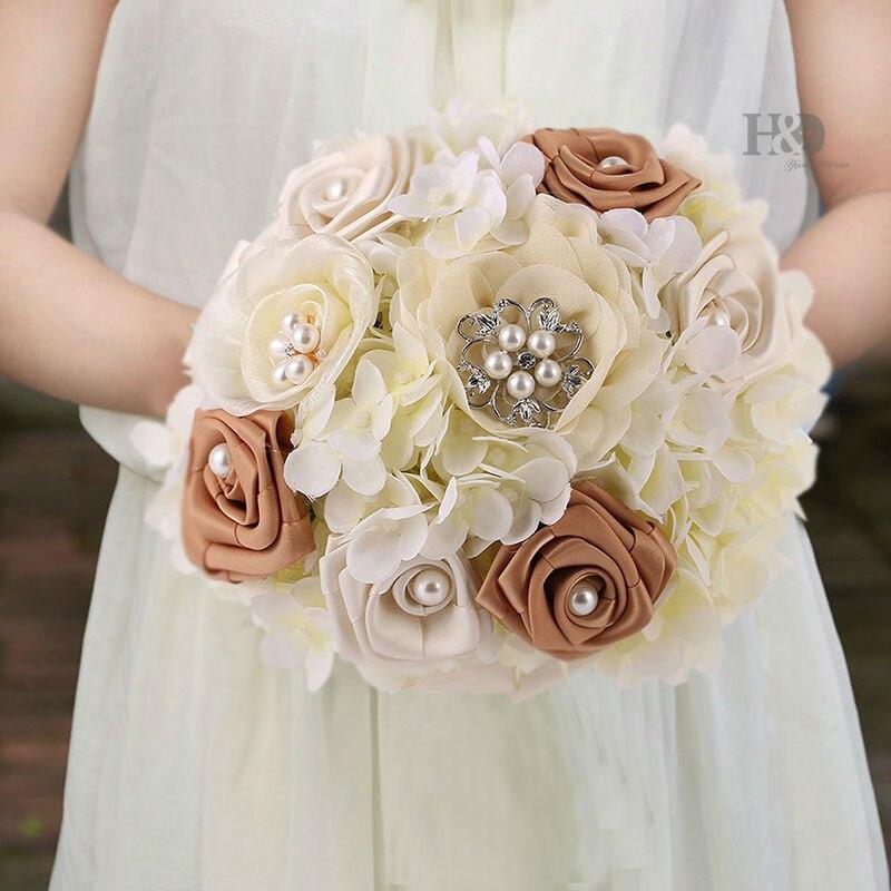 H&D Bridal Hands Bouquet Wedding Gossamer Hand Bouquet Simulation ...