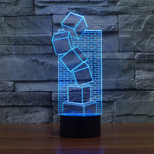 3D LED Table Lamp Illusion Colorful Touch Cool Style Night Light Christmas Prank Gifts Romantic Holiday Cute Creative Gadget