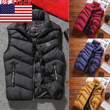 New Men Winter Parka Waistcoat Thick Warm Coat Stand Collar Cotton Padded Men Fashion Casual Parka Outwear Zip Coat Size L-3XL(China)