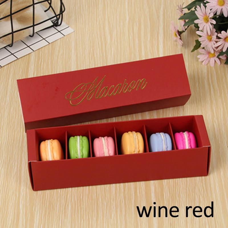 Макаронная упаковка, коробка, красиво упакованная, для свадебной вечеринки, для хранения торта, бумажная коробка для печенья, украшения торта, Аксессуары для выпечки - Цвет: wine red