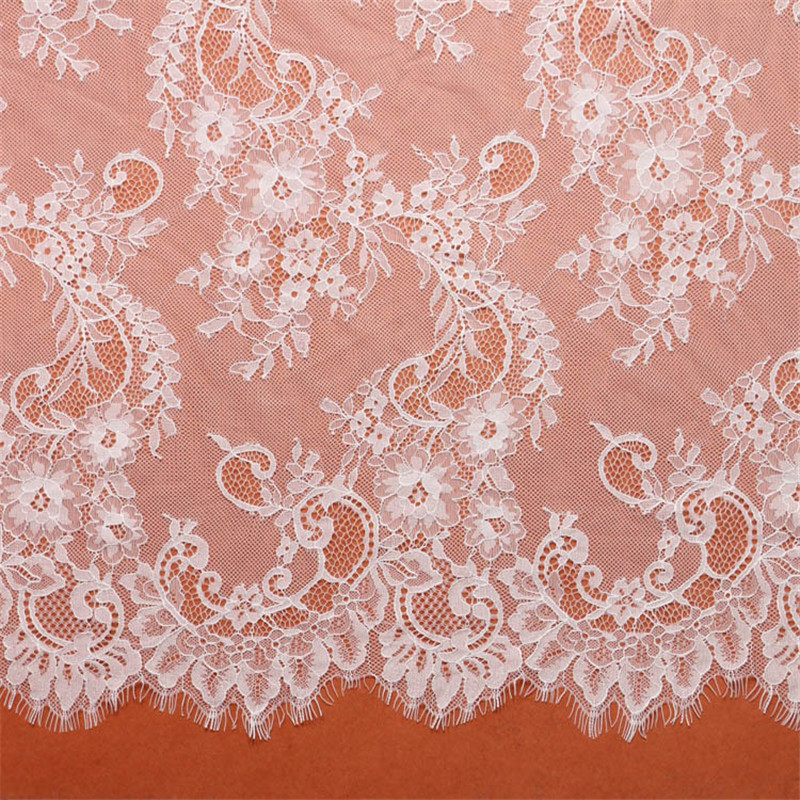 19 cm wide Eyelash Lace Trim Dress  Nylon 3 yards Handcraft Trim