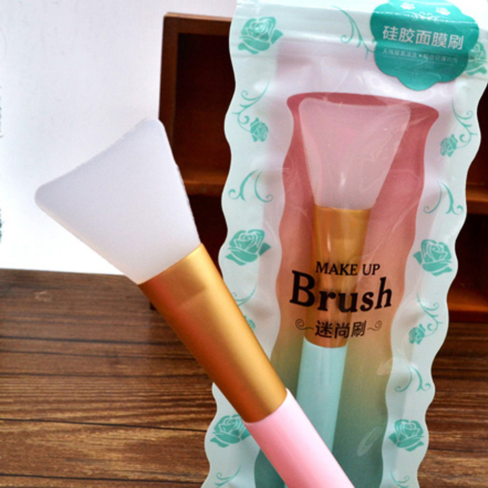 Soft Silicone Brush Foundation Women Beauty Facial Flawless Masker Brush Silicone Flawless Makeup Brush Pinceaux Maquillage#12