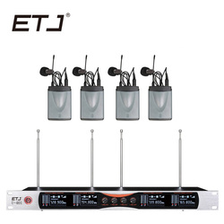 ETJ Wireless Microphone System ETJ U401 Professional Microphone 4 Channel Dynamic 4 Handheld Microphone + Karaoke