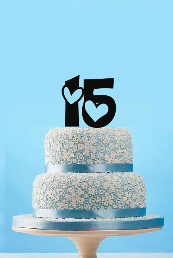 Custom Sweet 15 Cake Toppers Unique Kids Birthday Cake