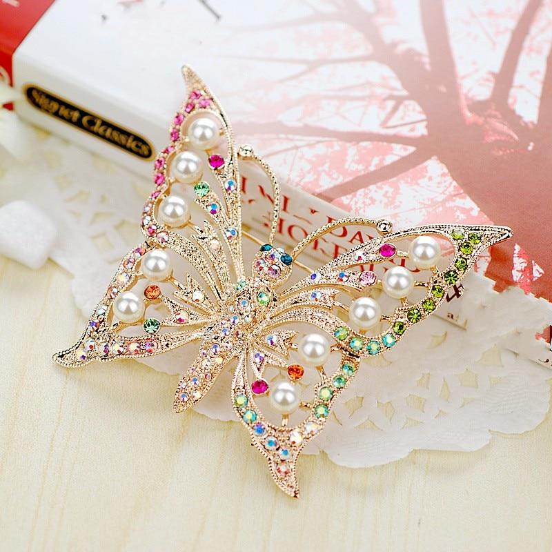 color butterfly brooch brooch jewelry elegant trendsetter cake brooch