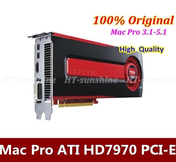 100% Original 3.1/4.1/5.1 HD7970 3GB PCI-E GDDR5 Graphic Video Card Support 4K Display Better than GTX680 1 year warranty DHL