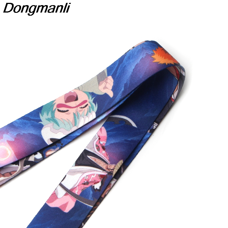 P3631 Dongmanli Anime BLEACH Keychain Lanyards Id Badge Holder ID Card Pass Gym Mobile Phone USB Badge Holder Key Strap in Key Chains from Jewelry Accessories