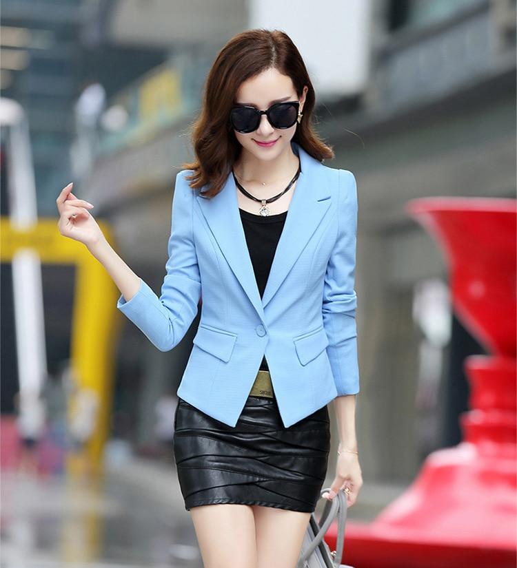 J62034 Spring Autumn Long sleeve Shrug Women Blazer Candy Color ladies blazer jacket Suit Jackets women blazers and jackets