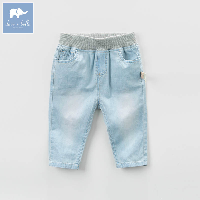 DB7044 dave bella spring baby boys fashion light blue denim solid jean kids pants children boutique trousers tangnest stylish distressed women jeans 2017 new fashion brand ripped jean pants capris casual wear denim trousers wkn478