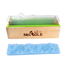 Moule à savon en Silicone avec clapets acryliques transparents verticaux et tapis de fleur, outil rectangulaire pour fabrication de savon feuilleté