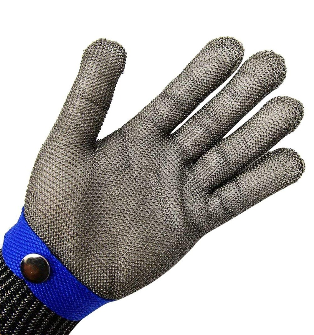 Safety Cut Proof Stab Resistant Stainless Steel Metal Mesh Butcher Glove Size XL High Performance Level 5 Protection