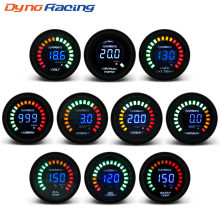 "Dynoracing 2"" 52MM Digital 20 LED Boost bar psi Vacuum Water temp Oil temp Oil press Voltmeter Air/fuel ratio EGT temp RPM Gauge(China)"