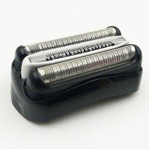 Image 2 - Сменное лезвие для бритвы, аксессуары для личной гигиены, Портативная Домашняя электробритва, ABS, простая установка, фольга, Черная Мужская головка для Braun