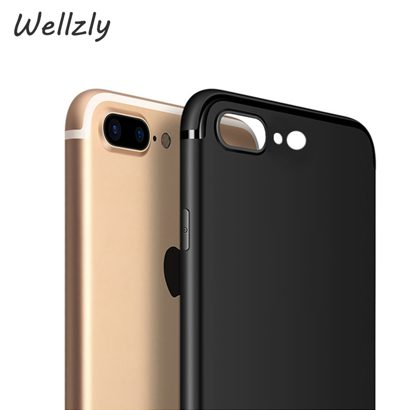 Wellzly TPU Cool Ultra Slim Matte Case For Apple iPhone 7 8 X 6 Case Silicone Back Soft For iPhone 7 8 6 Plus Cover Black B67