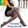 50pairs/lot Factory wholesale! Lady's High quality wrap core silk women's tights stockings pantyhose 4 colors Free shipping