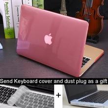 NOUVEAU Cristal  Mat Transparent cas Pour Apple macbook Air Pro Retina 11 12 13 15 ordinateur portable sac pour macbook Air 13 cas couverture + cadeau