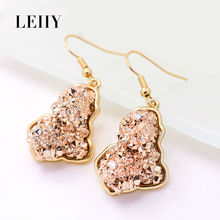 Leiiy Stylish Design 12 Colors Exquisite Resin Geometric Drop Earrings For Women Multicolored Fashion Jewelry Aretes De Mujer