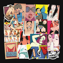 Girl Sexy Stickers Pack Laptop Skateboard Tease Vulgar Girl Sticker Luggage Waterproof Stickers Styling Home Decor Classic Toys(China)