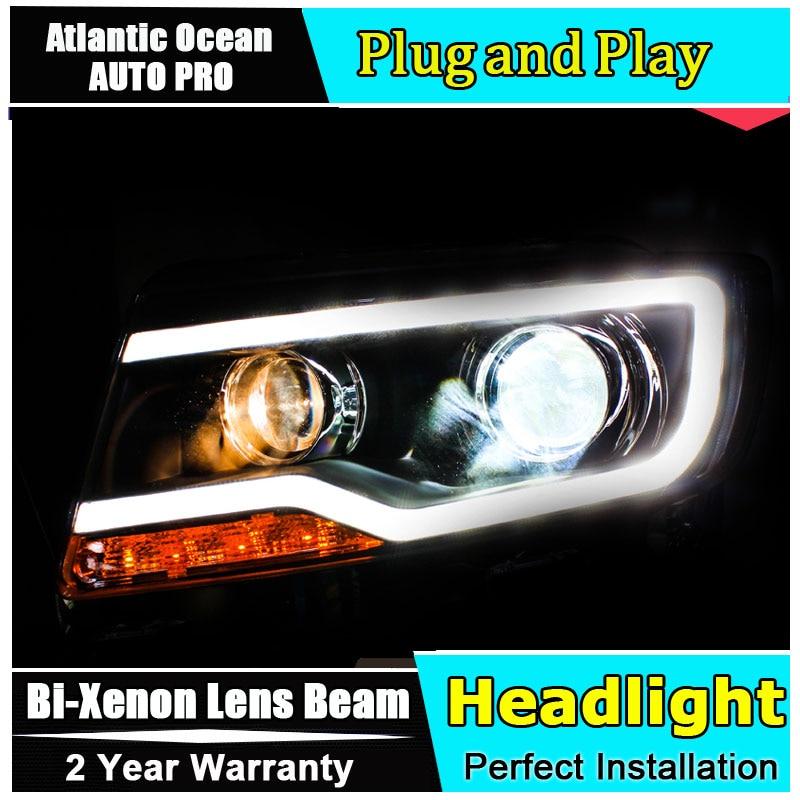 Nouveau design voiture style pour Jeep boussole phares 2011-2015 pour boussole led lampe frontale bi-xénon Double lentille HID KIT led drl